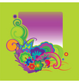 modern floral frame vector image vector image