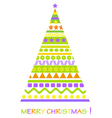 christmass tree card vector image