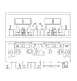 Architectural set of furniture Design elements vector image
