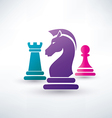 chess piecies icons vector image