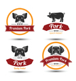 Pork label 2 vector image