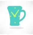 Simplistic coffee cup icon vector image