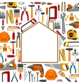 Building and repair work tools poster vector image
