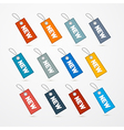 Label Tag Set With String and Title New vector image vector image