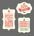 Christmas Holiday tags vintage type design vector image