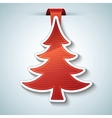 christmas tree sticker vector image vector image