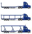 semi truck trailer 18 vector image