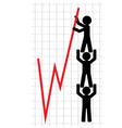 lifting of economic indicators vector image