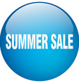 summer sale blue round gel isolated push button vector image