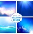 Bright Background Set vector image