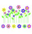 Bright flower border vector image