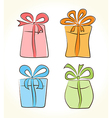 Cartoon gift boxes collection vector image
