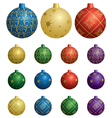 colorful decorative balls for christmas vector image