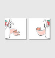 cooking cardsnotesstickerslabels tags with vector image