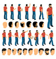 creation set of man characters vector image