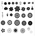 Flower icon collection vector image