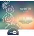 gear wheel background vector image
