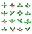 Holly berry icons vector image