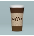 Realistic Paper Coffee Cup vector image
