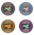 Set Of Coffee Symbol Badge vector image