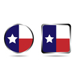 texas flag icon isolated on white vector image
