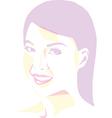 Women portrait - pop art vector image