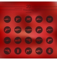 Set of firearms icons vector image