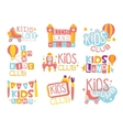 Kids Land Playground And Entertainment Club Set Of vector image