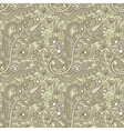hand draw ornate seamless pattern vector image