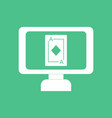 icon ace of diamonds screen vector image vector image