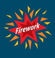 Abstract colorful logo for fireworks vector image