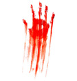 Bloody hand print vector image vector image