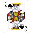 King of clubs original design vector image vector image