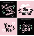 cards for Valentines day vector image vector image