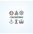 Nautical Sea Yachting Concept vector image