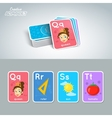 Letter word and picture vector image