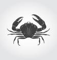 Crab Black Icon vector image