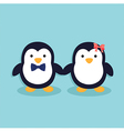 Cute Penguin Couple vector image