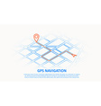 gps navigation thin line design vector image