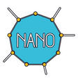 nano molecular structure colorful silhouette with vector image