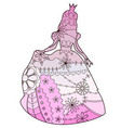 princess with transition colors vector image