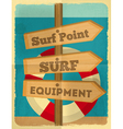 surf signpost vector image