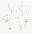 Bathroom and toilet equipment vector image