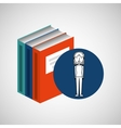 library books school girl student vector image
