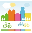 design cocnept with modern buildings vector image vector image