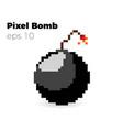 pixel bomb game vector image vector image
