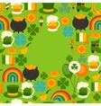 Saint Patricks Day greeting card vector image vector image