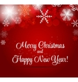 Happy New Year and Marry Christmas Background vector image vector image