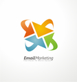 Email marketing creative design concept vector image vector image