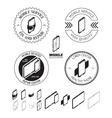 Set of mobile repair service logos labels badges vector image